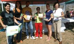 Integrantes de Avanzax y de la iniciativa Picnic de Alérgicos junto a representante de Biosabor y la nutricionista Ana Molina