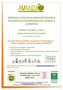 cartel charla escolarización Almería 7-4-17